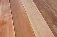 Cedar Decking Closeup