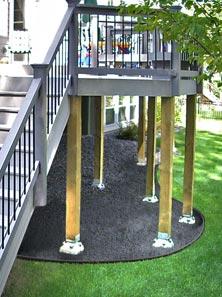 Diamond Pier Decking supports