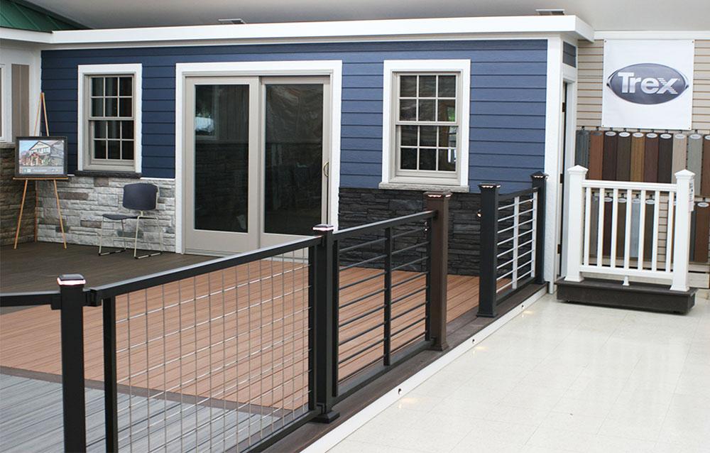 Trex decks indoor display at Northville Lumber