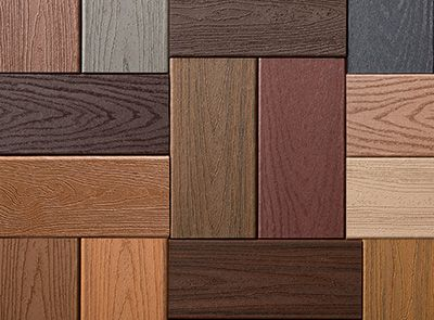 collage of various colors of Trex decking