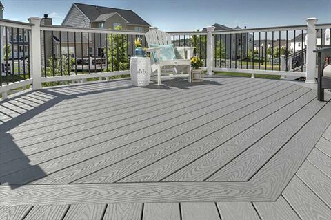 Trex Select Pebble Gray deck