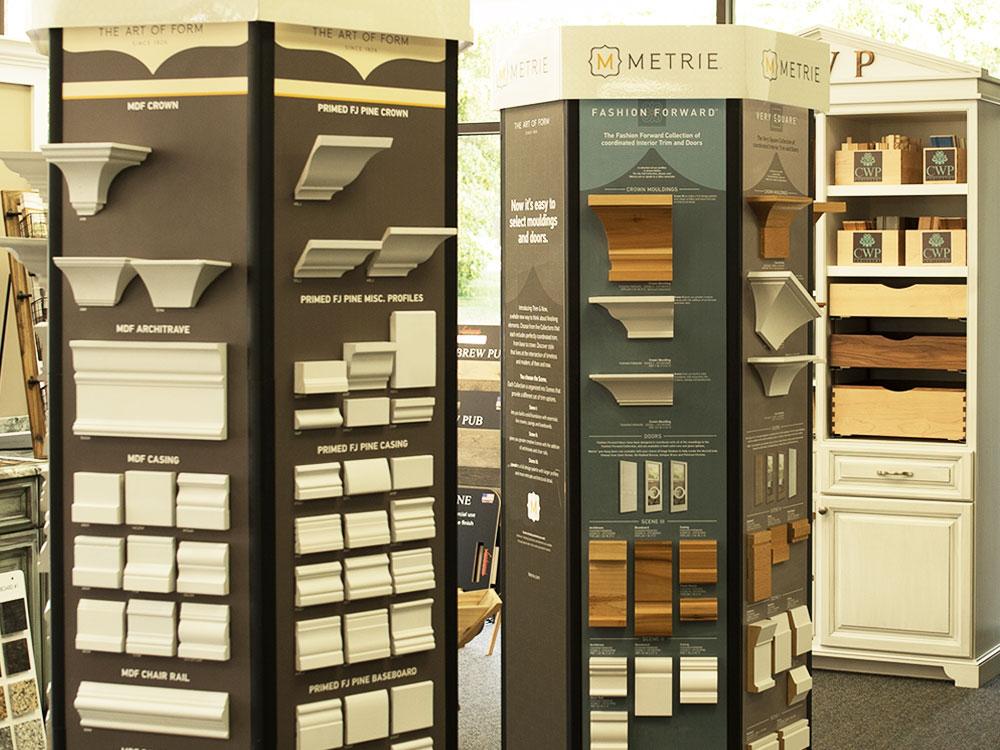 Interior Trim displays at Novi Home Design Center