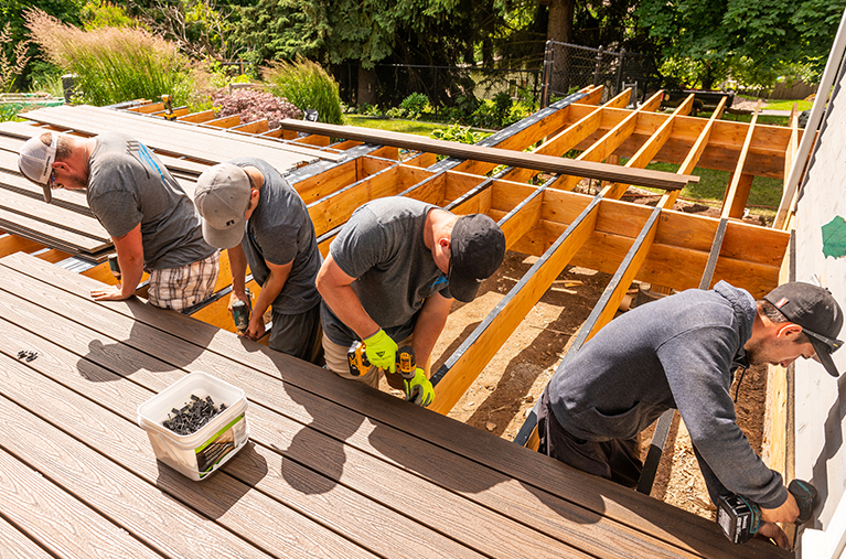 Treated Decking Install